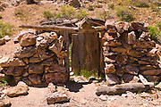 Miners cabin at the Eureka Mine, Death Valley National Park. California