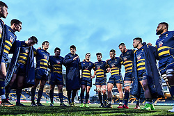 Worcester Warriors post match huddle - Mandatory by-line: Craig Thomas/JMP - 27/01/2018 - RUGBY - Sixways Stadium - Worcester, England - Worcester Warriors v Exeter Chiefs - Anglo Welsh Cup