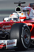 Barcelona, Spain - <br /> <br /> The German driver, Sebastian Vettel, from Ferrari team, in action during the 2nd day of Formula One tests days in Barcelona, 23rd of February, 2016. <br /> ©Exclusivepix Media