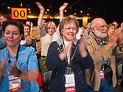 27 FEBRUARY 2011 - PHOENIX, AZ: People applaud a speaker at the Tea Party Patriots American Policy Summit in Phoenix Sunday, the last day of the conference. About 2,000 people were expected to attend the event, which organizers said was meant to unite Tea Party groups across the country. Speakers included former Minnesota Governor Tim Pawlenty, Texas Congressman Ron Paul, former Clinton advisor Dick Morris and conservative blogger Andrew Brietbart. The event ended with a presidential straw poll, which was won by Herman Cain, a newspaper columnist from Atlanta, GA.     Photo by Jack Kurtz