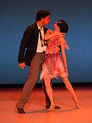 GASTON DE CARDENAS / EL NUEVO HERALD -- MIAMI, FL --  4/17/2009 -- Mary Carmen Catoya and Carlos Guerra principle dancers  in The Quick-Step e part of Miami City Ballet presention of Open Barre 3 a sneak preview into the 2009-2010 season at the Miami City Ballet Studios on Miami Beach.