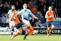 Blackpool's Brad Potts battles with Luton Town's Lawson D'Ath<br /> <br /> Photographer David Shipman/CameraSport<br /> <br /> The EFL Sky Bet League Two - Luton Town v Blackpool - Saturday 1st April 2017 - Kenilworth Road - Luton<br /> <br /> World Copyright © 2017 CameraSport. All rights reserved. 43 Linden Ave. Countesthorpe. Leicester. England. LE8 5PG - Tel: +44 (0) 116 277 4147 - admin@camerasport.com - www.camerasport.com