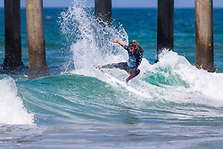 Peterson Crisanto (BRA) advances to Round 3 of the 2018 VANS US Open of Surfing after winning Heat 15 of Round 2 at Huntington Beach, California, USA.
