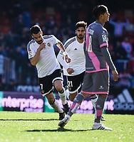 Valencia CF's Alvaro Negredo  and Rayo Vallecano's Ze Castro during La Liga match. January 17, 2016. (ALTERPHOTOS/Javier Comos)