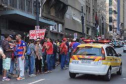 April 24, 2018 - SãO Paulo, Brazil - SÃO PAULO, SP - 24.04.2018: ATO MTST E POVO SEM MEDO SP - A small group of MTST protesters and people fearlessly occupied 2 lanes of Libero Badaró street on Monday. (24) Demonstrators protested against homelessness. (Credit Image: © Roberto Casimiro/Fotoarena via ZUMA Press)