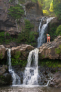 Pools of 'Ohe'o - The Seven Sacred Pools at 'Ohe'o Gulch, Haleakala National Park at Kipahulu, Maui, Hawaii
