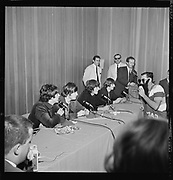 Y-650822A-04 Beatles at Memorial Coliseum press conference. August 22, 1965