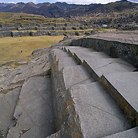 Visitors wander through ruins of Sacsayhuamán, an extensive Inca ruin near Cuzco, Peru, where one of their last great battles against Pizzaro and the Spanish conquistadors occurred.