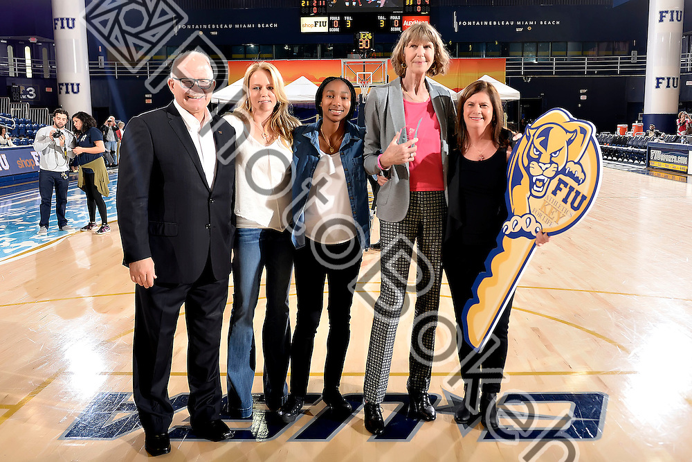 2016 February 20 - FIU honored Cindy Russo's accomplishments for FIU Women's Basketball. (Photo by: Alex J. Hernandez / photobokeh.com) This image is copyright by PhotoBokeh.com and may not be reproduced or retransmitted without express written consent of PhotoBokeh.com. ©2016 PhotoBokeh.com - All Rights Reserved
