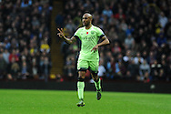 Fabian Delph of Manchester city gives some instructions as he comes on as a replacement. Barclays Premier league match, Aston Villa v Manchester city at Villa Park in Birmingham, Midlands  on Sunday 8th November 2015.<br /> pic by  Andrew Orchard, Andrew Orchard sports photography.
