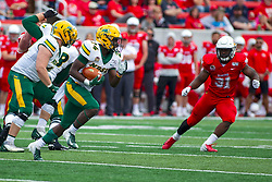 NORMAL, IL - October 05: Kobe Johnson during a college football game between the ISU (Illinois State University) Redbirds and the North Dakota State Bison on October 05 2019 at Hancock Stadium in Normal, IL. (Photo by Alan Look)