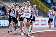 Charlie Grice competing in the Men's 1500m race heat. The British Championships 2016, athletics event at the Alexander Stadium in Birmingham, Midlands  on Saturday 25th June 2016.<br /> pic by John Patrick Fletcher, Andrew Orchard sports photography.