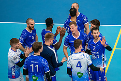 Team Lycurgus celebrates after the 3-1 win on Orion. The supercup final between Amysoft Lycurgus - Active Living Orion on October 04, 2020 in Van der Knaaphal, Ede