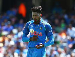 June 11, 2017 - London, United Kingdom - Hardik Pandya of India.during the ICC Champions Trophy match Group B between India and South Africa at The Oval in London on June 11, 2017  (Credit Image: © Kieran Galvin/NurPhoto via ZUMA Press)