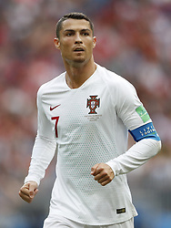 Cristiano Ronaldo of Portugal during the 2018 FIFA World Cup Russia group B match between Portugal and Morocco at the Luzhniki Stadium on June 20, 2018 in Moscow, Russia
