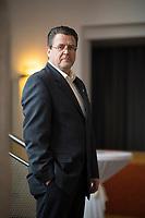 DEU, Deutschland, Germany, Arnstadt, 18.02.2017: Portrait Stephan Brandner, AfD-Abgeordneter im Thüringer Landtag, Listenplatz 1 der AfD Thüringen zur Bundestagswahl. Landeswahlversammlung der Partei Alternative für Deutschland (AfD) in Thüringen.
