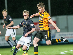 Falkirk's Craig Sibbald and Alloa Athletic's Dougie Hill. <br /> Falkirk 5 v 0 Alloa Athletic, Scottish Championship game played at The Falkirk Stadium. © Ross Schofield