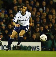 Fotball. Engelsk Premier League 2001/2002.<br /> Tottenham v Charlton 18.03.2002..<br /> Gustavo Poyet, Tottenham.<br /> Foto: Robin Parker, Digitalsport