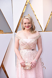 March 4, 2018 - Los Angeles, California, U.S. - ELISABETH MOSS arrives on the red carpet for the 90th Annual Academy Awards at the Dolby Theatre. (Credit Image: © Kevin Sullivan via ZUMA Wire)