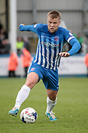 Nicky Featherstone (Captain) (Hartlepool United) runs with the ball during the EFL Sky Bet League 2 match between Hartlepool United and Carlisle United at Victoria Park, Hartlepool, England on 14 April 2017. Photo by Mark P Doherty.