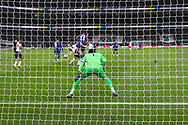 Goal 0-1 Chelsea forward Timo Werner (11) smashes home the opening goal for Chelsea during the EFL Cup Fourth Round match between Tottenham Hotspur and Chelsea at Tottenham Hotspur Stadium, London, United Kingdom on 29 September 2020.