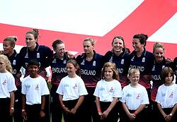 England Women line up for the national anthems - Mandatory by-line: Robbie Stephenson/JMP - 09/07/2017 - CRICKET - Bristol County Ground - Bristol, United Kingdom - England v Australia - ICC Women's World Cup match 19