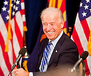 16 NOVEMBER 2009 -- PHOENIX, AZ:  Vice President Joe Biden (CQ) talks to valley business and Democratic leaders about the economic stimulus Monday. Vice President Joe Biden was at Sky Harbor International Airport Monday morning to participate in a round table discussion the Obama administration's economic stimulus program.    Photo by Jack Kurtz