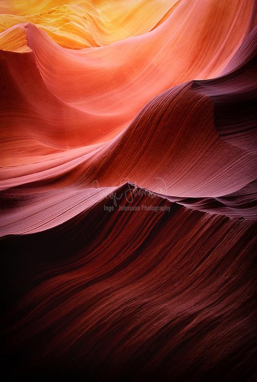 Swirls in sandstone walls