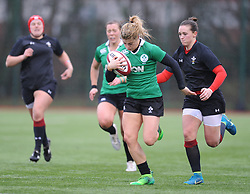 Ireland women's Ailsa Hughes<br /> <br /> Photographer Mike Jones/Replay Images<br /> <br /> International Friendly - Wales women v Ireland women - Sunday 21st January 2018 - CCB Centre for Sporting Excellence - Ystrad Mynach<br /> <br /> World Copyright © Replay Images . All rights reserved. info@replayimages.co.uk - http://replayimages.co.uk