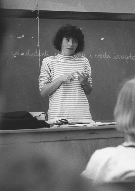 ©1990  College professor teaching Italian language at the University of Texas at Austin