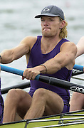 Nottingham, National Rowing Championship.<br /> 2001 Championships<br /> Photo Peter Spurrier.<br /> <br /> Sat 21th July 2001<br /> <br /> Sydney 2000 gold Medallist, Tim Foster, rowing at No.3 for  University of London in the coxed four event (M4+) at the National Championships – National Water Centre Nottingham.     [Mandatory Credit;Peter SPURRIER;Intersport Images] 20010723 National Rowing Championships, Nottingham. UK