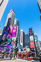 NEW YORK CITY- MARCH 23, 2018 : Times square Broadway one of the main Manhattan Landmarks