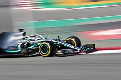 February 28, 2019 - Barcelona, Catalonia, Spain - the Mercedes of Lewis Hamilton during the Formula 1 test in Barcelona, on 28th February 2019, in Barcelona, Spain. (Credit Image: © Joan Valls/NurPhoto via ZUMA Press)
