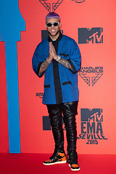 Jhay Cortez attends the MTV EMAs 2019 at FIBES Conference and Exhibition Centre on November 03, 2019 in Seville, Spain. Photo by ABACAPRESS.COM