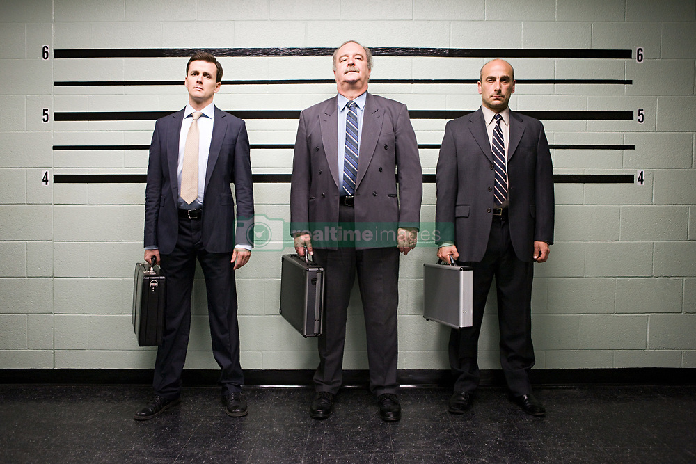 Jul. 25, 2012 - Businessmen in lineup (Credit Image: å© Image Source/ZUMAPRESS.com)