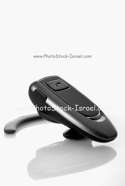 bluetooth wireless earpiece On white Background