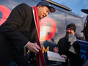 10 DECEMBER 2019 - DES MOINES, IOWA: Yang, an entrepreneur, is running for the Democratic nomination for the US Presidency in 2020. He kicked off a five day bus tour today at the Iowa State Capitol in Des Moines. Iowa hosts the the first election event of the presidential election cycle. The Iowa Caucuses will be on Feb. 3, 2020.                      PHOTO BY JACK KURTZ