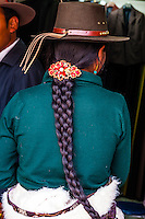 Tibetan woman, Lhasa, Tibet (Xizang), China.