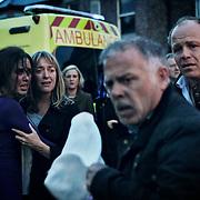 Fair City Eps 149<br /> TX:  Thursday September 19th 2013<br /> Luke realizes Tommy is trapped and goes to help<br /> L-R<br /> Caoimhe - Aoibheann McCaul<br /> Judith - Catherine Byrne<br /> Luke - Liam Heffernan<br /> Pete - Enda Oates