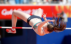 Northern Ireland's Katherine O'Connor in action during the High Jump element of the Women's Heptathlon, at the Carrara Stadium during day eight of the 2018 Commonwealth Games in the Gold Coast, Australia.