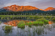 Mount Tallac reflected in Taylor Creek, South Lake Tahoe, California