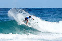 Conner O'Leary of Australia advances directly to Round Three of the 2017 Billabong Pipe Masters after winning Heat 1 of Round One at Pipe, Oahu, Hawaii, USA