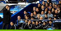 Photo: Alan Crowhurst.<br />Chelsea v FC Porto. UEFA Champions League. Last 16, 2nd Leg. 06/03/2007. Chelsea's coach Jose Mourinho sends out signals.