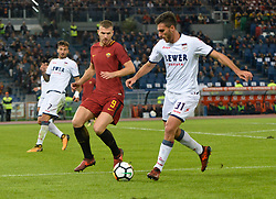 October 25, 2017 - Italy - Edin Dzeko during the Italian Serie A football match between A.S. Roma and F.C. Crotone at the Olympic Stadium in Rome, on october 25, 2017. (Credit Image: © Silvia Lor/Pacific Press via ZUMA Wire)