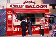 A752M9 Fish and chip market stall Great Yarmouth Norfolk England