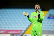 Bolton Wanderers goalkeeper Matthew Gilks (13) applauds, claps, applauding, clapping during the EFL Sky Bet League 2 match between Scunthorpe United and Bolton Wanderers at the Sands Venue Stadium, Scunthorpe, England on 24 November 2020.