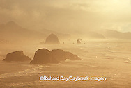 66295-02616 Cannon Beach at sunset, Ecola State Park OR