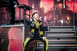 June 17, 2018 - Landgraaf, Limburg, Netherlands - Olly Alexander of Years & Years performing live at Pinkpop Festival 2018 in Landgraaf, Netherlands, on 17 June 2018. (Credit Image: © Roberto Finizio/NurPhoto via ZUMA Press)
