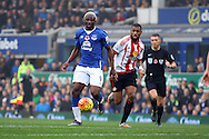 Arouna Kone of Everton is chased by Yann M'Vila of Sunderland. Barclays Premier League match, Everton v Sunderland at Goodison Park in Liverpool on Sunday 1st November 2015.<br /> pic by Chris Stading, Andrew Orchard sports photography.