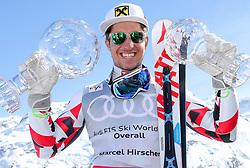 THEMENBILD - Skistar Marcel Hirscher gibt am 4. September seine Zukunftspläne in Salzburg bekannt. Seit seinem ersten Weltcupsieg 2009 in Val d'Isere gewann er den Gesamtweltcup siebenmal in Folge und steht derzeit bei insgesamt 68 Siegen. Damit zählt er zu den erfolgreichsten Skirennläufern der Geschichte. Hier im Bild: Marcel Hirscher (AUT) mit der Kristallkugel für den Sieg im Gesamtweltcup, Saison 2015/2016 // Ski star Marcel Hirscher announces his plans for the future in Salzburg on 4 September. Since winning his first World Cup victory in Val d'Isere in 2009, he has won the overall World Cup seven times in a row and currently has a total of 68 victories. He is one of the most successful ski racers in history. Here in the picture: Marcel Hirscher (AUT) with the crystal ball for the victory in the overall World Cup season 2015/2016. EXPA Pictures © 2019, PhotoCredit: EXPA/ Erich Spiess